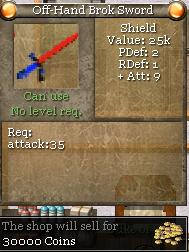 Off-Hand Brok Sword