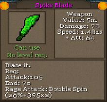 Spike blade