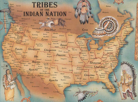 Native American Tribes Map 2