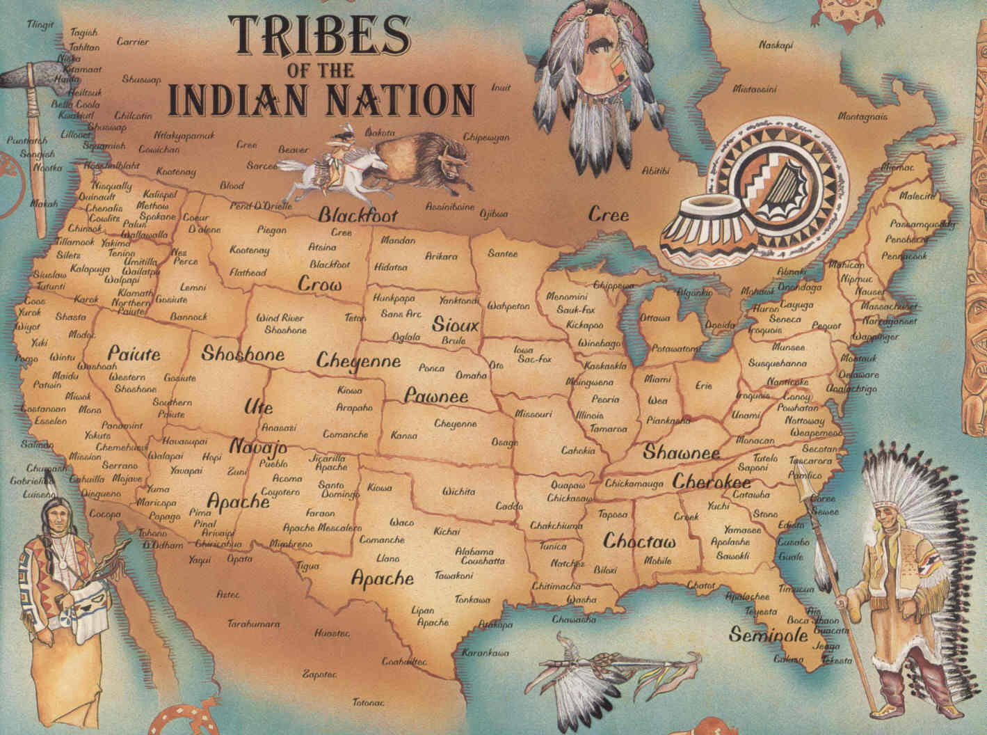 Image Native American Tribes Map Jpg Oral Tradition Wiki - Oral map