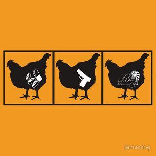 Red Orange Is The New Black Chicken