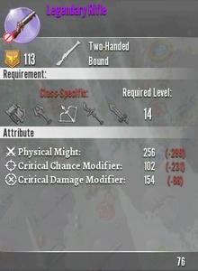 Legendary Rifle