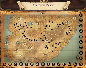 Map the great desert minerals