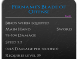 Fername's Blade of Offense