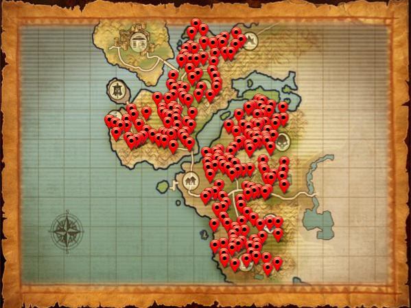 Map ore tearcoast