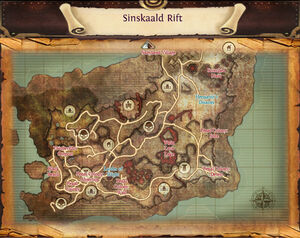 Map sinskaald rift unmarked locations
