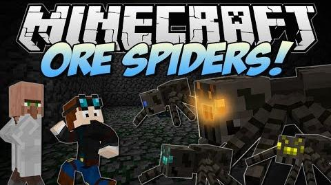 Minecraft ORE SPIDERS! (Can You Fight & Claim the Riches?!) Mod Showcase