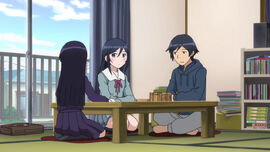 Oreimo S2 EP11-Kyousuke Kuroneko Ayase Sitting On Table