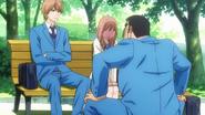 Takeo staring at Rinko
