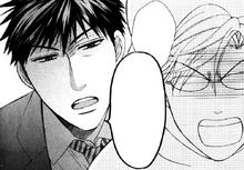 Yui being cut off by Takaomi