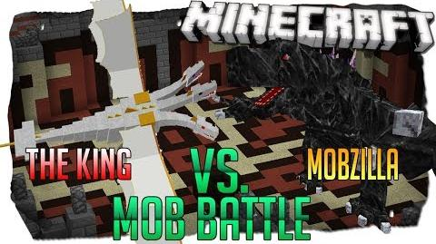 Mobzilla Vs The King Minecraft Mob Battle! Arena Battle Between The Strongest Minecraft Bosses Ever!