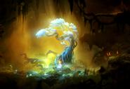 Ori standing near the Spirit Edge Tree