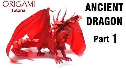 ORIGAMI ANCIENT DRAGON TUTORIAL (Satoshi Kamiya) PART 1折り紙 エンシェントドラゴン оригами ALTER DRACHE-1535680849