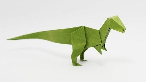 Origami Velociraptor (Jo Nakashima) - Dinosaur 6