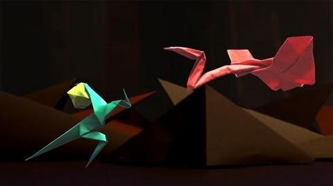 One Leg Canyon ORIGAMI STOP MOTION ANIMATION