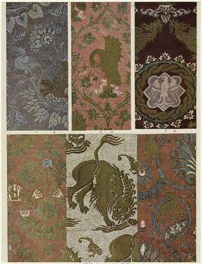 14세기의 다마스크 패턴