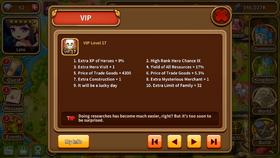 VIP level 17