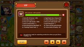 VIP level 25