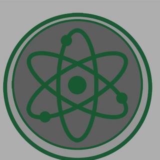 Science emblem concept.