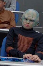 Kid with bluish head