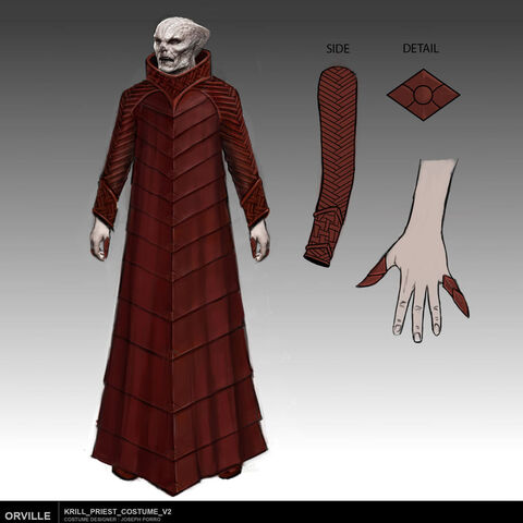 A concept sketch of the High Priest by the show's wardrobe designer <a href=