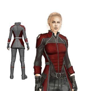 Captain Pria concept sketch.