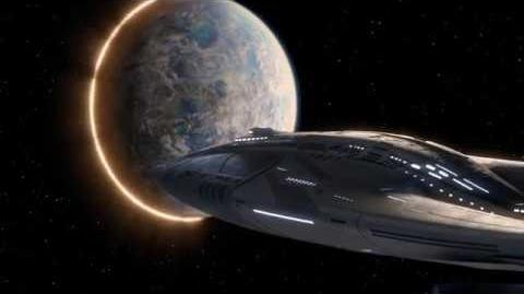The multiphasic planet appearing and disappearing near the Orville.