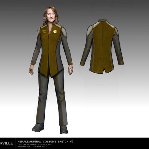 Female Admiral costume sketch