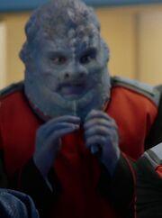 Big blue man
