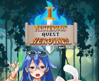 Mysterious Quest Heroines run 3 banner heading