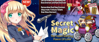 Secret Magic run 2 banner heading