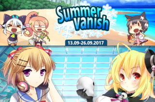 Summer Vanish banner heading