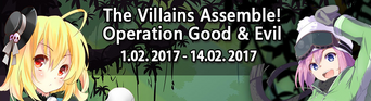 The Villains Assemble! Operation Good & Evil Banner