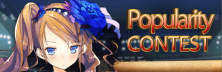 Popularity Contest run 2 banner heading