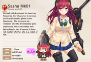Sasha Mk01 Album Entry