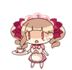 Momotani Kurumi (Waitress version) chibi