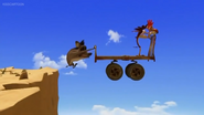 The Trio's Cart Floating In Mid Air