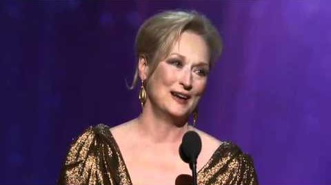 Meryl Streep winning Best Actress
