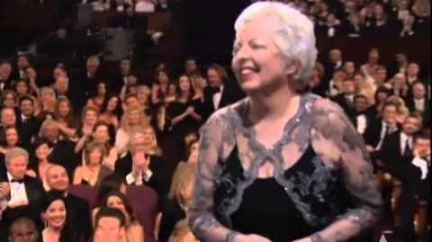 """Thelma Schoonmaker winning a Film Editing Oscar® for """"The Departed"""""""