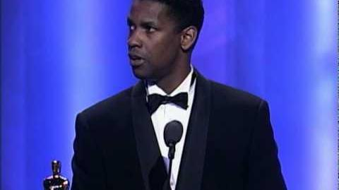 Denzel Washington Wins Supporting Actor 1990 Oscars