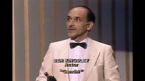 Ben Kingsley Wins Best Actor 1983 Oscars