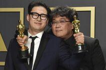 Han Jin Won, left, and Bong Joon Ho