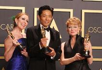 Oscar winners Anne Morgan, Kazu Hiro, Vivian Baker