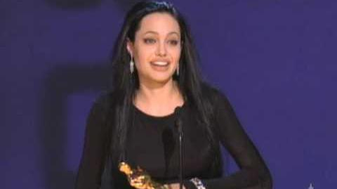 Angelina Jolie Wins Supporting Actress 2000 Oscars