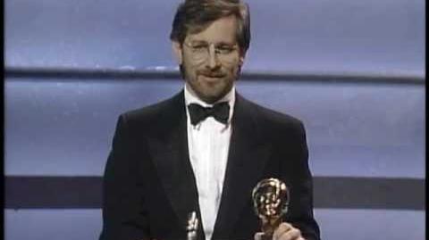 Steven Spielberg receiving the Irving G