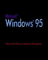 Windows 95 Early 1995 Shutdown Screen
