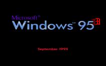 Windows 95 - September 1994 Boot Screen