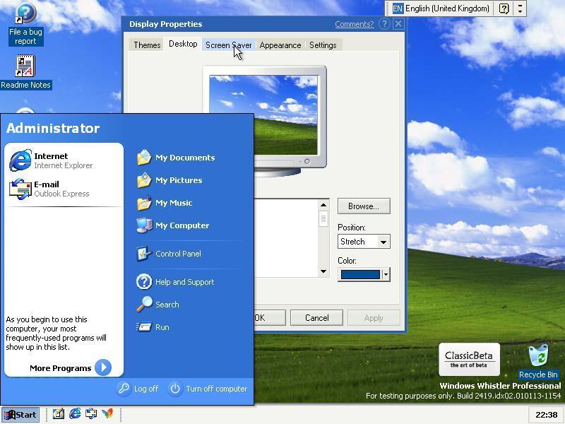 Windows:XP:2419:idx02 | Operating System Beta, etc  Wiki