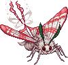 Candycane moth adult