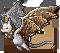 Gemeater bat smoky quartz adult